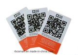 ID는 PVC 사업 RFID 카드 NXP MIFARE DESFire EV2-2k를 잘게 썬다