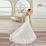 Шнурок Tulle lhbim высокого качества Appliques платье венчания 2017 Mermaid