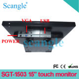 Monitor da tela de toque do LCD do monitor de Sgt-1503 VGA/USB/15 polegadas