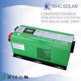 l'inverseur de l'énergie 3000W solaire a branché au remisage des batteries