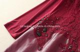 Rotes Restonic Frauen `S PU-Kleid