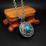 De uitstekende Turkooise 316L Juwelen van de Manier van de Tegenhanger van de Halsband van het Roestvrij staal