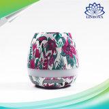 Mini plantas coloridas creativas que jogam altofalantes de Bluetooth do Flowerpot da música com luz do diodo emissor de luz