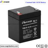 batterie de 12V 4.5ah AGM pour l'usage d'UPS fabriqué en Chine