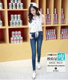 Lady&prime 2017; Jeans Stretchable del cotone lavati alta qualità scarna di misura di S