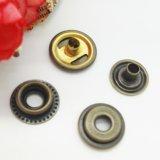 Botón caliente del broche de presión del resorte de la hebilla del anillo de retención del casquillo del metal de la venta 2017