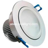 shell LED Downlight de 3X1w White+Black