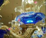 Kroonluchters van het Kristal van de Legering van het Zink van het Glas van de eend de Blauwe Gouden