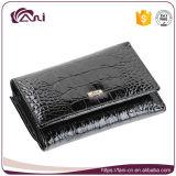Бумажник створки неподдельной кожи конструкции горячего сбывания новый для женщин/бумажника Wholsale кожи складывая