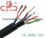 Câble siamois de Lancable Utpcat5e 2power pour le câble d'acoustique de connecteur de câble de transmission de câble de caractéristiques de câble du réseau Cable&DVR/Computer