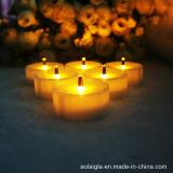 Желтые мелькая света чая оптического волокна СИД батарей пламени