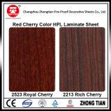 El grano de madera colorea el Formica Lamiante
