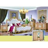Insieme di camera da letto classico con la base ed il guardaroba antichi (W815)