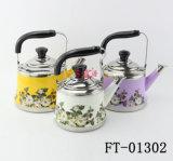 Чайник цвета цветка печати нержавеющей стали с фильтром (FT-01302)