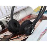 écouteur d'écouteur de téléphone de centre d'appels de 2.5mm avec des contrôles du volume de MIC