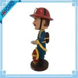 La figurine de Bobblehead de résine Bobble la coutume principale Bobblehead de pompier