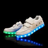 Neueste koreanische Form-Kinder LED leuchten Schuhen mit Flausch