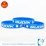 Wristband preto alargado por atacado relativo à promoção do silicone