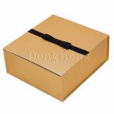 Contenitore di regalo di lusso piegante speciale stampato metallina bianca del cartone
