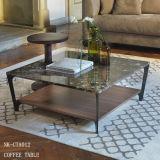 Самомоднейший журнальный стол 2 ярусов модульный деревянный приданный квадратную форму (NK-CTA014)