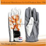 Перчатка гольфа ладони Breathability Cabretta с стороной печатание