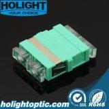 Sc de fibra óptica del adaptador al Aqua del Sc Om3 ningún borde