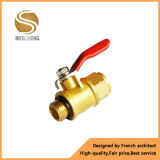 Vávula de bola de cobre amarillo del cromo de la alta calidad