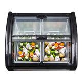 Deslizando o refrigerador de vidro de revestimento endurecido do indicador do gelado da porta