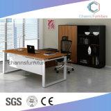 Escritorio moderno del encargado del vector del ordenador de oficina de los muebles