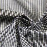 água de 75D 270t & do Sportswear tela 100% preta tecida do filamento do fio do poliéster do jacquard da manta para baixo revestimento ao ar livre Vento-Resistente (FJ019)