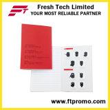Cuaderno promocional modificado para requisitos particulares del OEM del regalo con insignia
