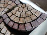 Pedra de pavimentação em forma de leque de telhas de assoalho do mosaico