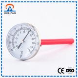 Mecánica Portátil de Acero Inoxidable de Alta Temperatura Indicador de Presión