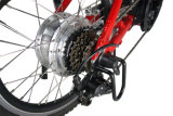 Bike красного цвета сложенный электрический