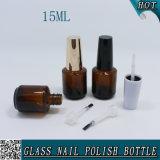 Bouteille en verre ambre vide 15ml de vernis à ongles de 1/2 once