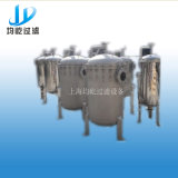 Máquina pura del agua del filtro de bolso con la cubierta del tamiz de la cesta