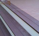 Imperméables à l'eau durables de la CE réutilisent le Decking en plastique de terrasse de WPC