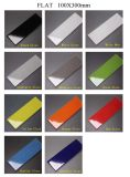 4in. X12in. Glanz-hellgraue abgeschrägte keramische glasig-glänzende Innenwand-Fliese