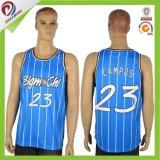 Azul adelgazar la camiseta en blanco apta del larguero de la gimnasia del Mens para la venta al por mayor