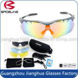 Anteojos de seguridad de ciclo inastillables cambiables del deporte del voleibol de la vendimia de los vidrios de Sun con la lente polarizada permutable
