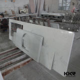Подгонянный искусственний каменный твердый поверхностный Countertop при раковина отрезанная вне