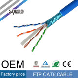 Sipu conductor de cobre SFTP Cat 6 cable de la red LAN para internet