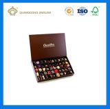 カスタムロゴによって印刷されるギフトのペーパーチョコレート包装ボックス(ふたと)