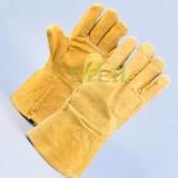 Aufgeteiltes Rindleder-lederne Handschuhe/Hochleistungssicherheits-Handschuhe für Aufbau