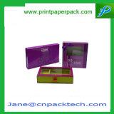 Kundenspezifisches kosmetisches Duftstoff-Geschenk, das Belüftung-Fenster-Papierkasten verpackt