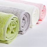 Fabrication en gros de coton Jacquard Dobby serviette de bain doux