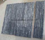벽 클래딩을%s 어두운 회색 자연적인 문화 돌 슬레이트