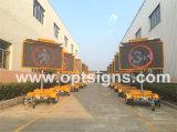 Remorque polychrome extérieure portative de signe du mobile DEL de sûreté de route d'étalage latéral de circulation