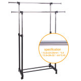 Steel di acciaio inossidabile Telscopic Garment Hanger con Racks Jp-Cr402