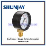 Calibre de pression de haute qualité avec étui en acier noir